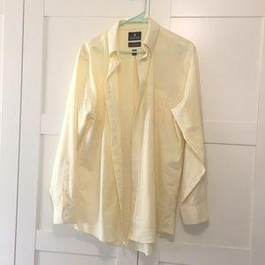 Butter yellow men's button down shirt